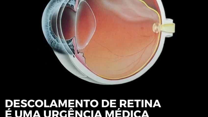 descolamento de retina é uma urgência médica